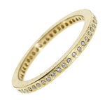 Thin Gold Band with White Diamonds