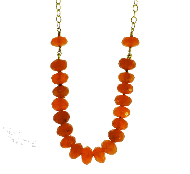 Carnelian Cluster Necklace