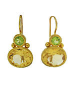 Citrine and Peridot Two Drop