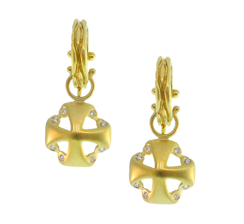 Maltese Gold And Diamond Earrings