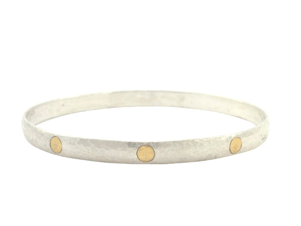 Silver and 24K Midnight Bangle