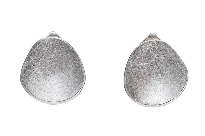 Concave Disk Clip Earrings