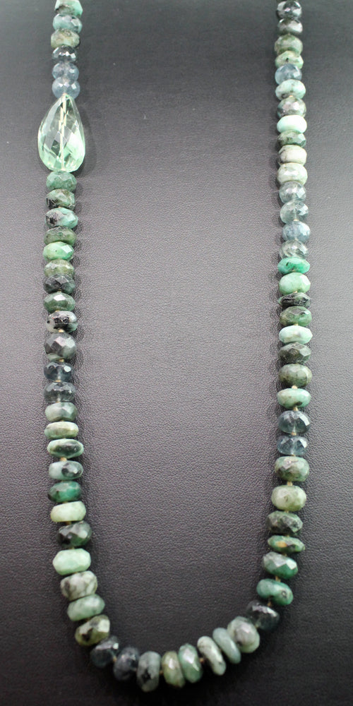EMERALD AND GREEN AMETHYST NECKLACE