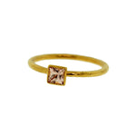Colored Sapphire Square Stacking Ring