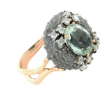 Green Amethyst Urchin Ring
