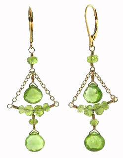Peridot Chandelier Earrings