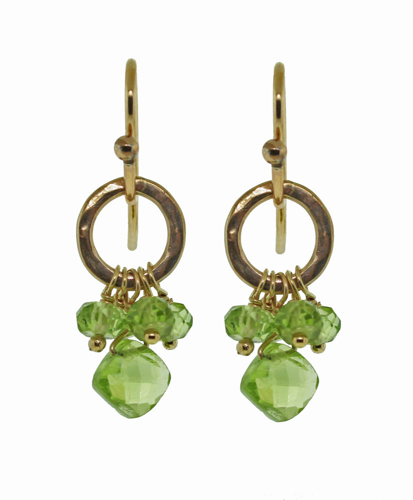 Peridot Cluster Earrings