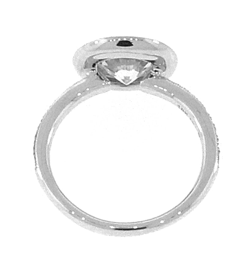 Low Profile Round Halo Ring Setting