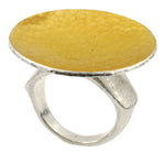 Round Gold Facing Hourglass Ring