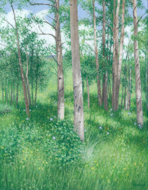 "Chris Hureau, ""Aspen Clearing"", Oil"