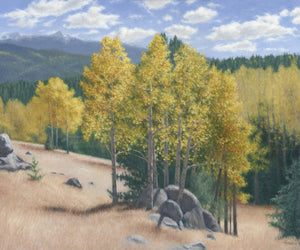 "Chris Hureau, ""Aspen Vista,"" Oil"