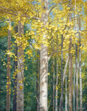 "Chris Hureau, ""Aspen Study"" Oil"