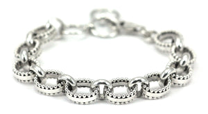 Sterling Silver Inda Thick Bead Adjustable Bracelet