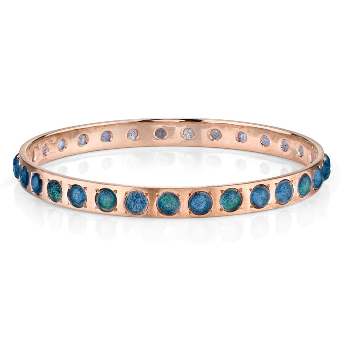 Rose Gold Labradorite Bangle