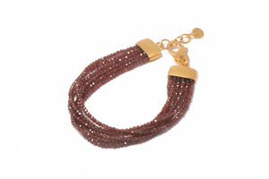 Multi-Strand Faceted Garnet Bracelet
