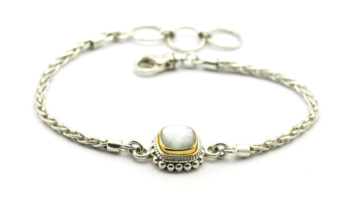 Padma Beaded Mother of Pearl Bracelet
