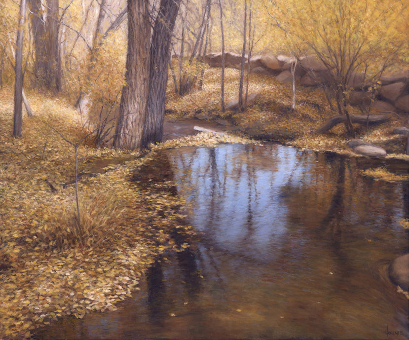 "Chris Hureau, ""Bear Creek Reflections,"" print"