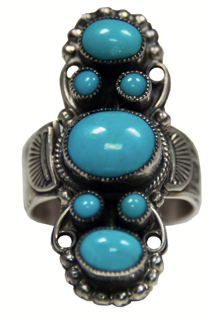Sleeping Beauty Turquoise Large Ring