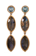 Blue Topaz and Labradorite Earrings