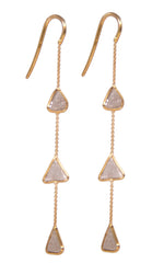 18 Karat Organic Diamond Earrings