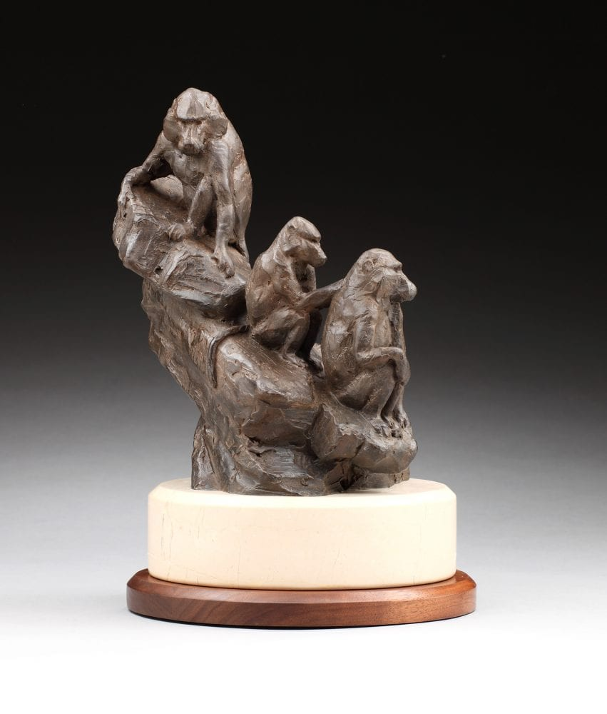 "Daniel Glanz, ""Dog Monkeys,"" 1/30 Bronze"