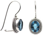 Padma Swiss Blue Topaz Earrings