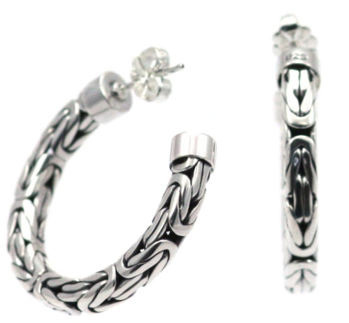Sura Woven Link Hoop Earrings