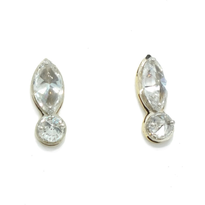 Marquise Cut Diamond  Earrings