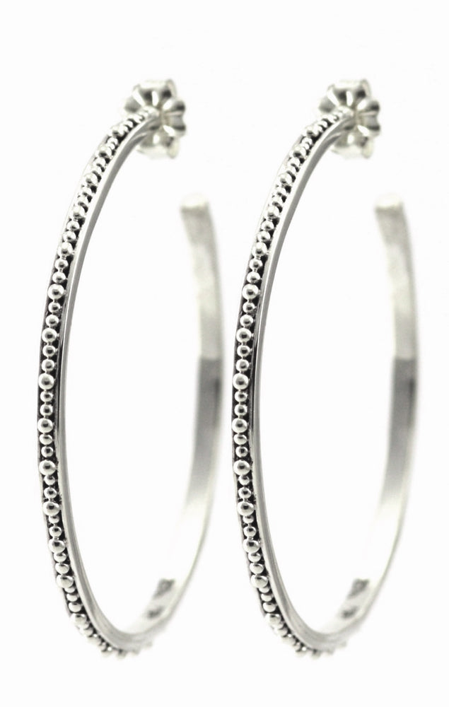 Inda Large Beaded Hoop Earring
