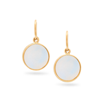 Tresor, Gemstone Simple Round Dangle Earrings