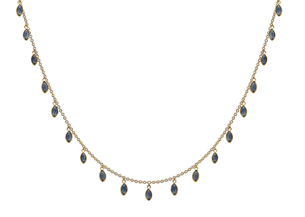 Marquise Sapphire Drops Necklace