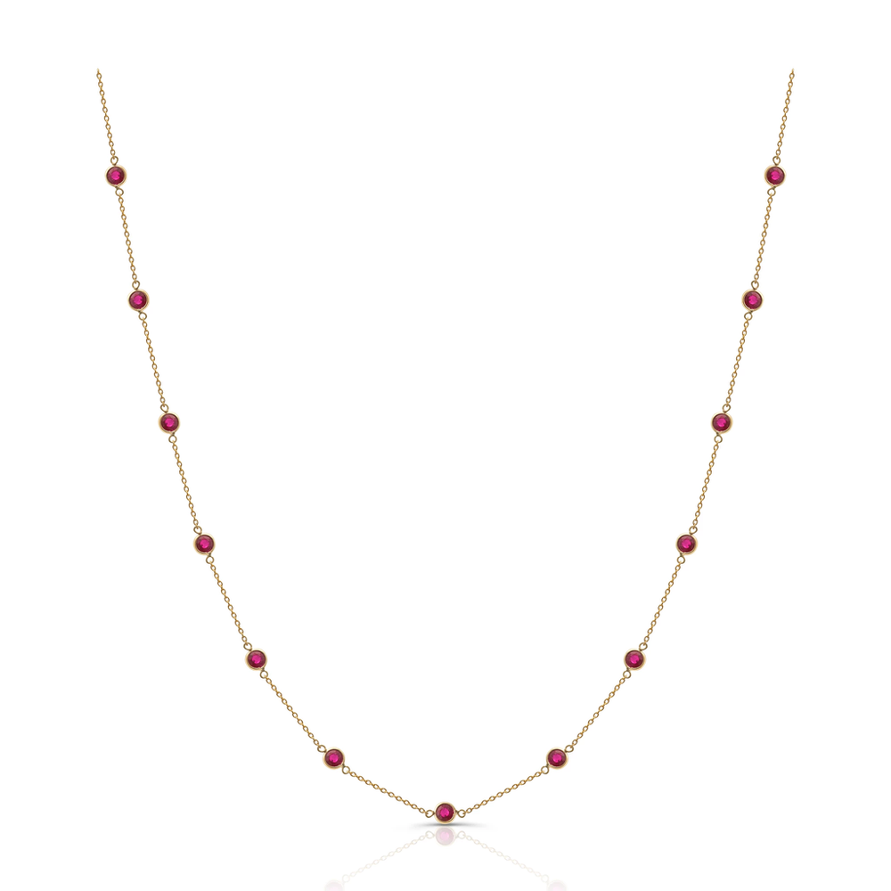 Tresor, Ruby Round Necklace