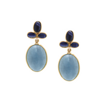 Sapphire and Aqua Earrings
