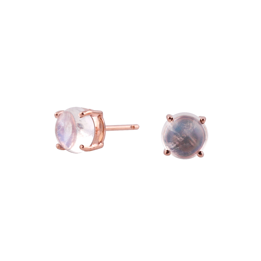 Tresor, Round Gemstone Earrings