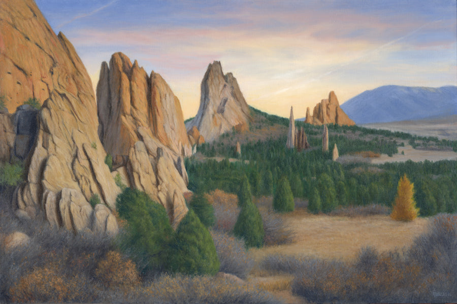 "Chris Hureau, ""Fall Evening at the Garden of the Gods,"" print"