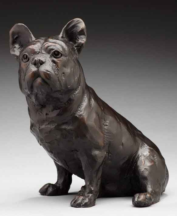 "Daniel Glanz, ""Frenchie,"" Bronze 24/30"