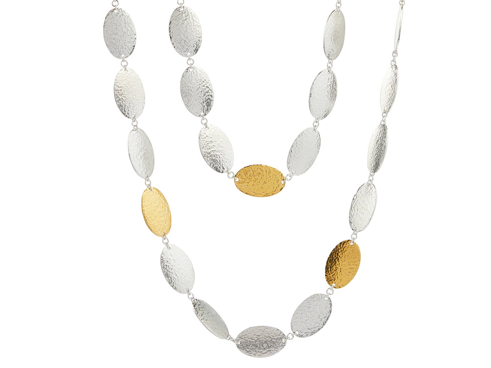 Mango Silver Necklace 'Kissed' With 24kt Gold