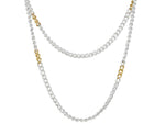 Hoopla Silver Chain Necklace 'Kissed' With 24kt Gold
