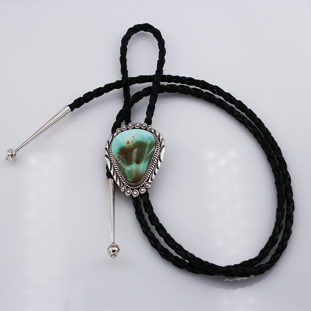 Mary Ann Spencer: Royston Turquoise and Sterling Silver Bolo Tie