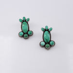 Carico Lake Turquoise 7 Stone Earrings