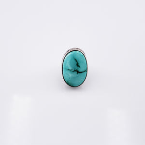 Ashley Boyd: White Horse Fox Turquoise Ring
