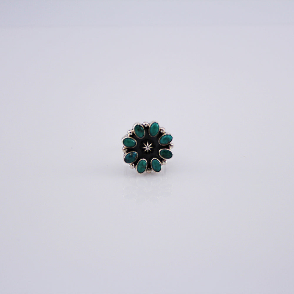 Rita Dawes: Turquoise Star Flower Ring