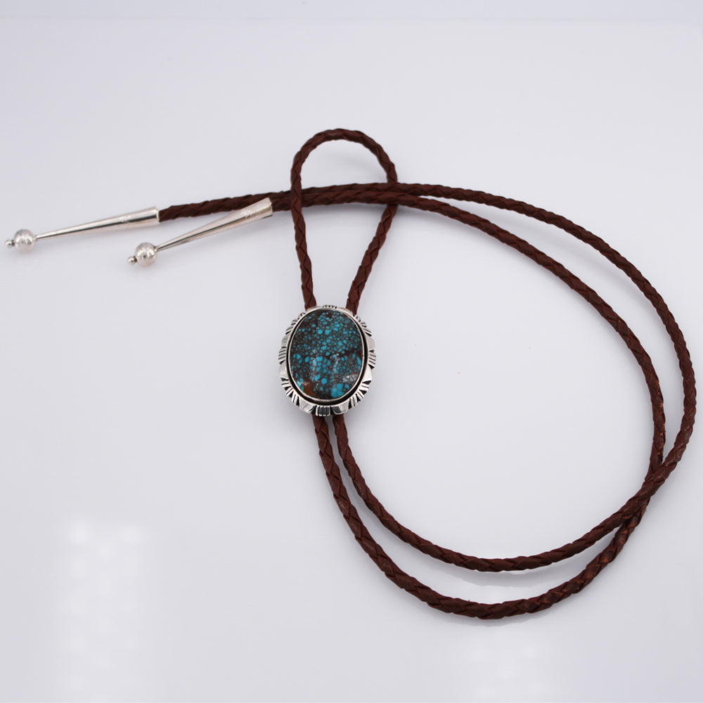 Mona Van Riper: Egyptian Turquoise and Sterling Silver Bolo Tie