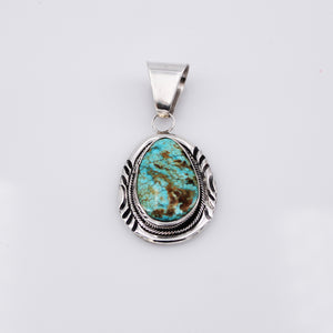 Baja Turquoise and Sterling Silver Pendant