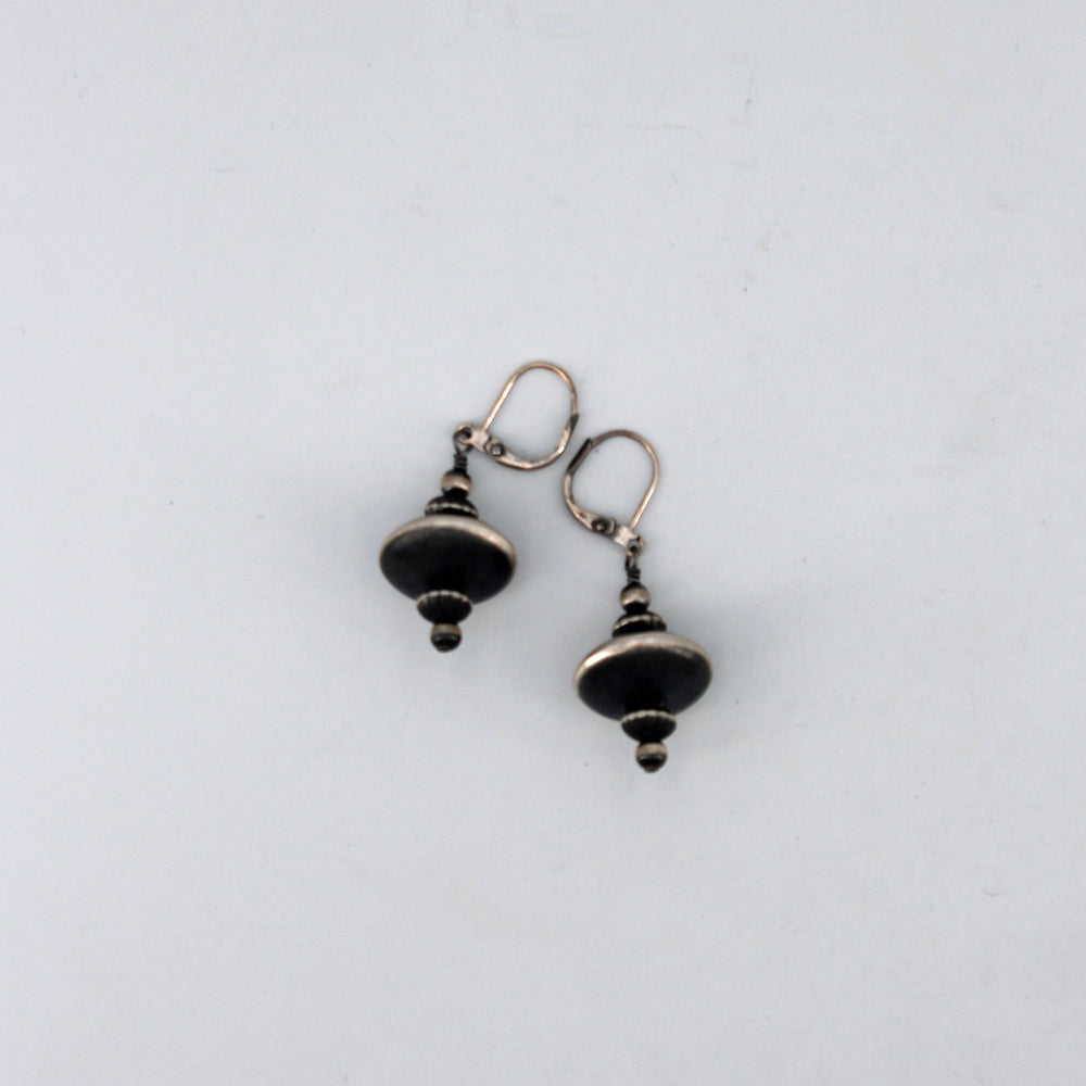 Fancy Navajo Pearl Earrings