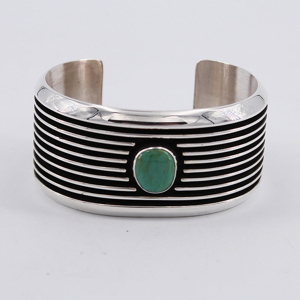Emerald Valley Turquoise & 'Railroad' Style Cuff