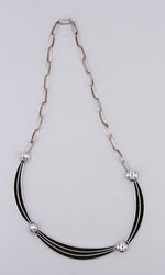 Sterling Silver 'Railroad' Necklace