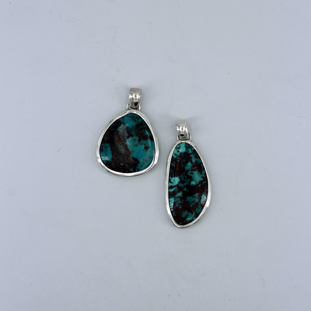 Peyote Bird: Double-Sided Turquoise Pendant