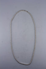 High Polish 24in Beaded Sterling Silver Necklace