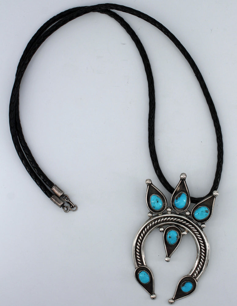 6 Stone Turquoise Crown Naja Necklace
